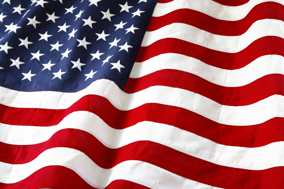 Old Glory...the stars and stripes...the red, white, and blue...the United States flag.